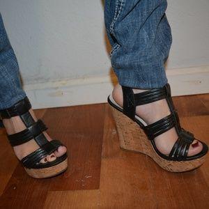 Strappy Wedge Cork Wedge Sandal Heel